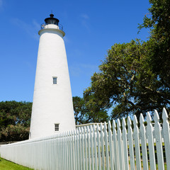 Ocracoke lighthouse on the outer banks North Carolina