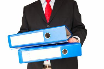 Mitarbeiter mit Akten