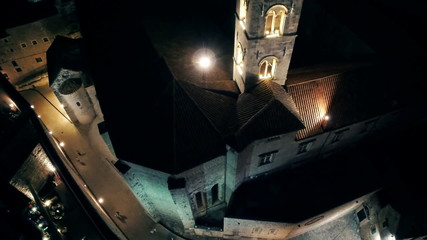 Dubrovnik Dominican monastery tower by night