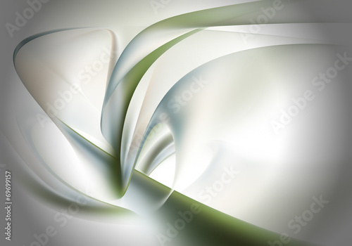 Canvas Fractal waves Abstract background
