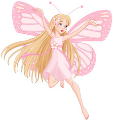 Beautiful flying fairy