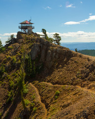 Ranger Lookout Station Atop Rocky Cliffs