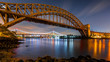 Hell Gate and Triboro bridge by night
