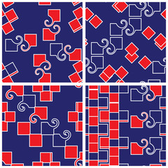 Abstract Funky Matching Patterns Set
