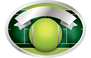 Tennis Ball Banner Illustration