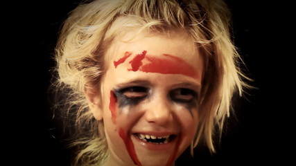 Little girl blood zombie attack