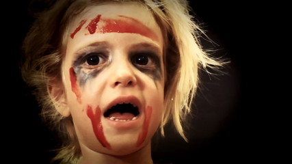 Little girl blood zombie short