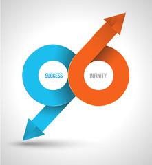 Arrow success infinity logo.