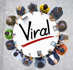 Aerial View of People and Viral Concepts
