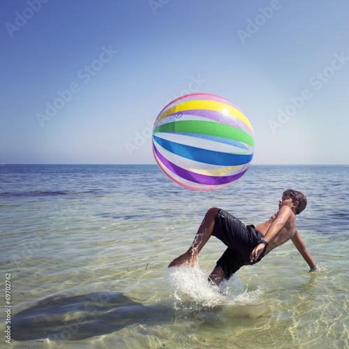 Poster Calcio in acqua