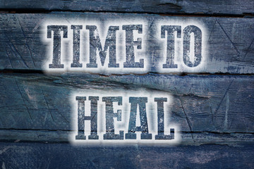 Time To Heal Concept