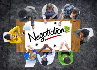People Brainstorming about Negotiation Concept
