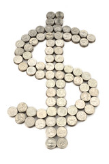 dollar sign from the coins