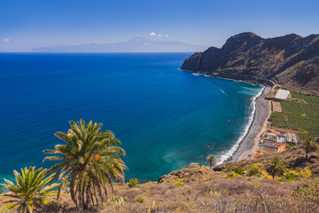 Beautiful beach in La Gomera island - Canary
