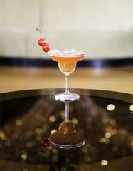 Cocktail in martini glasses