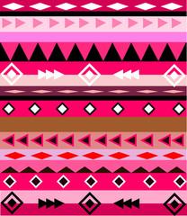 Aztec pink vector pattern