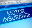 Motor insurance concept.