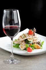 Fine dining / Grilled chicken fillet with fresh vegetable