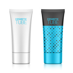 Cosmetic packaging, oval plastic tube template for your design
