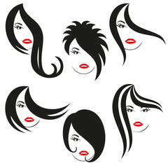 a logo is hair and hair-dos