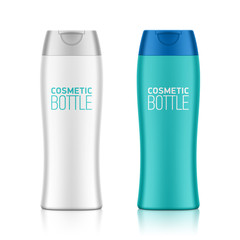 Cosmetic packaging, plastic shampoo or shower gel bottle