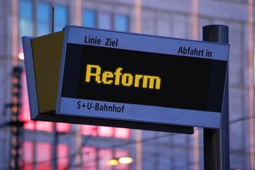 Anzeigetafel 1 - Reform