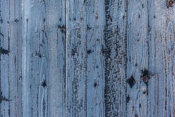 Frozen wood background