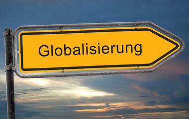 Strassenschild 19 - Globalisierung