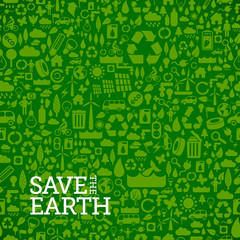 seamless background made of ecology icons