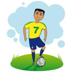 Football Player. Boy playing football