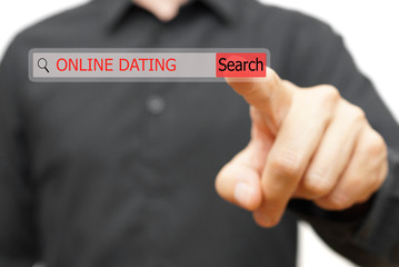 online dating in search bar