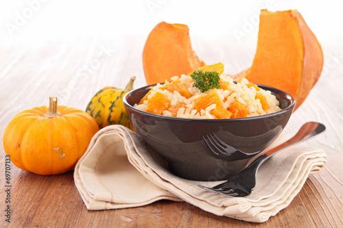 canvas print picture pumpkin risotto