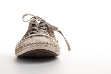 Frontview of tennis shoe
