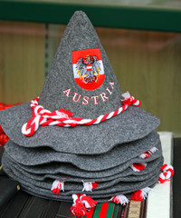 felt hat with the coat of arms of Austria