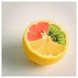 canvas print picture - mutierte Zitrone
