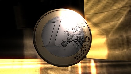 Digital Animation of a Euro Coin