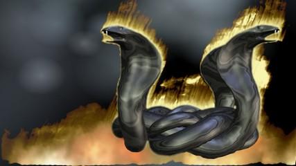 Digital Animation of a Cobra Circle