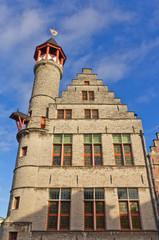 Tanners guild house Toreken (1450). Ghent, East Flanders, Belgiu