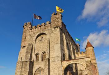 Gravensteen castle (circa 1180). Ghent, Belgium