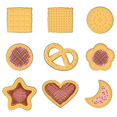 Set of few different tasty cookies