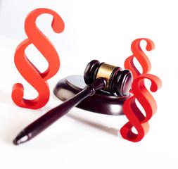 Judge gavel, Paragraph sign symbol
