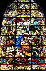 Vidriera Adoración de los pastores, Catedral de Sevilla, España