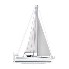 Sailing Yacht Isolated