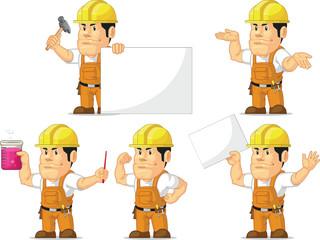 Strong Construction Worker Mascot 4