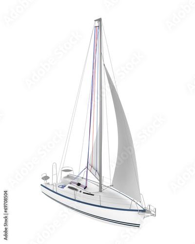 Sailing Yacht Isolated - 69708504