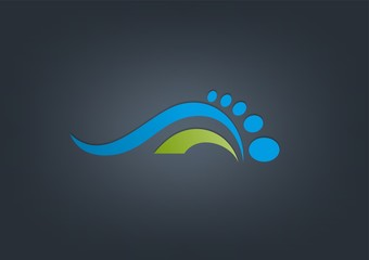 abstract podiatrist business logo