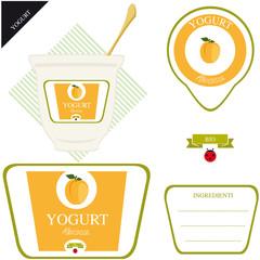 Etichetta per Yogurt - albicocca