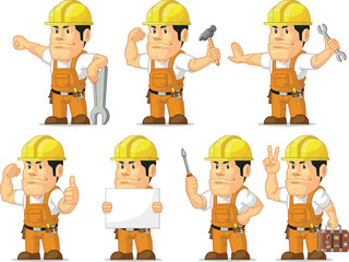Strong Construction Worker Mascot 11