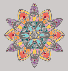 Coloring mandala design