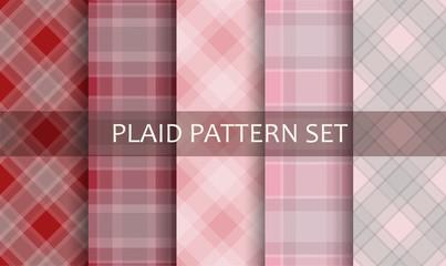 Plaid Patterns. Vector set.